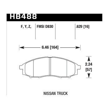 Колодки тормозные HB488F.629 HAWK HPS