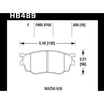 Колодки тормозные HB489F.630 HAWK HPS