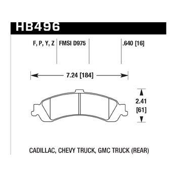 Колодки тормозные HB496P.640 HAWK SuperDuty; 16mm
