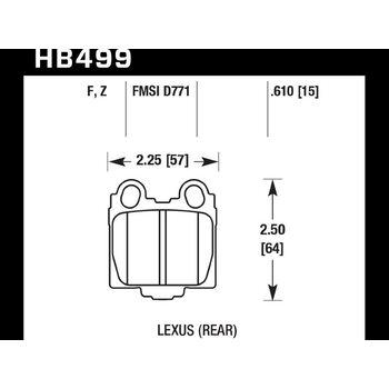 Колодки тормозные HB499Z.610 HAWK Perf. Ceramic