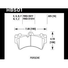 Колодки тормозные HB501Z.625 HAWK PC передние PORSCHE Cayenne (955) / Audi Q7 / VW Touareg