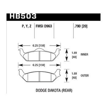 Колодки тормозные HB503Y.790 HAWK LTS