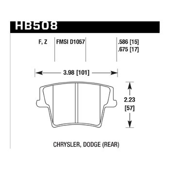 Колодки тормозные HB508F.586 HAWK HPS