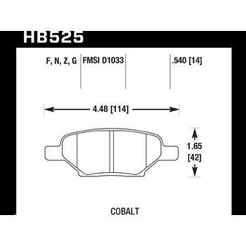 Колодки тормозные HB525N.540 HAWK HP Plus