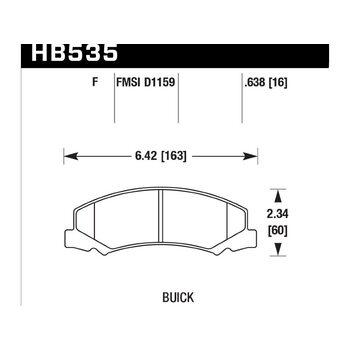 Колодки тормозные HB535F.638 HAWK HPS