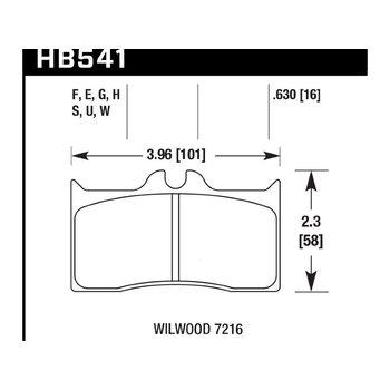 Колодки тормозные HB541F.630 HAWK HPS