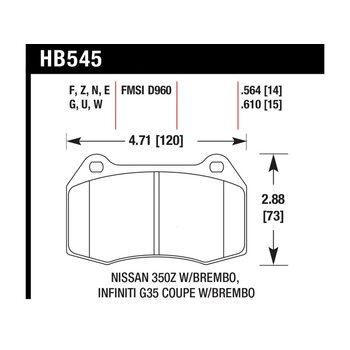 Колодки тормозные HB545F.610 HAWK HPS