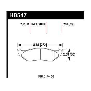 Колодки тормозные HB547Y.798 HAWK LTS