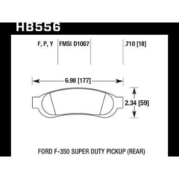 Колодки тормозные HB556P.710 HAWK SuperDuty задние Ford F-250 / F-350