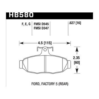Колодки тормозные HB580F.627 HAWK HPS