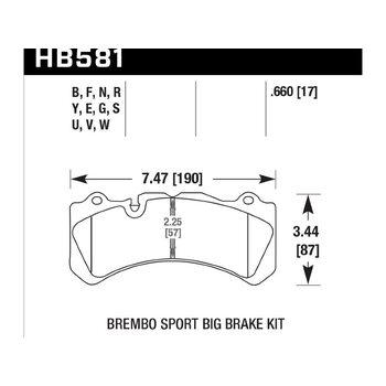 Колодки тормозные HB581Y.660 HAWK LTS