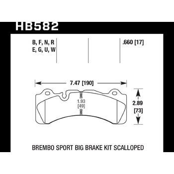 Колодки тормозные HB582B.660 HAWK HPS 5.0; 17mm