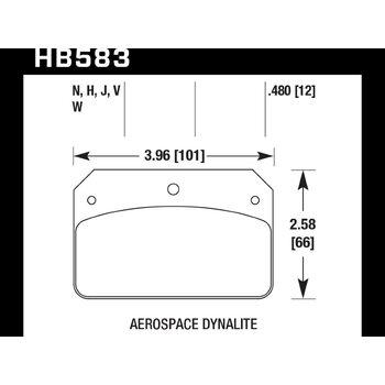 Колодки тормозные HB583N.480 HAWK HP Plus