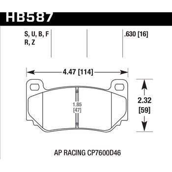 Колодки тормозные HB587Z.630 HAWK Perf. Ceramic