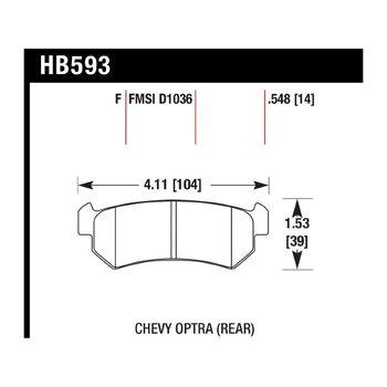 Колодки тормозные HB593F.548 HAWK HPS; 14mm