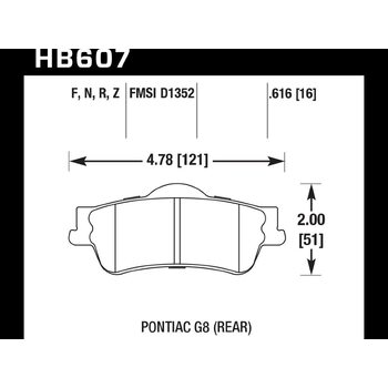 Колодки тормозные HB607F.616 HAWK HPS