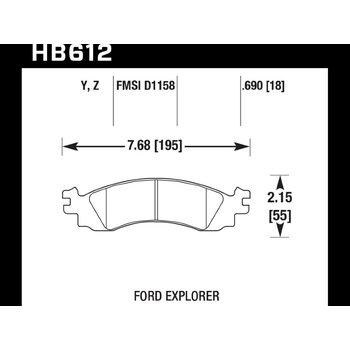Колодки тормозные HB612Z.690 HAWK Perf. Ceramic