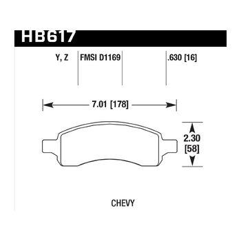 Колодки тормозные HB617Y.630 HAWK LTS