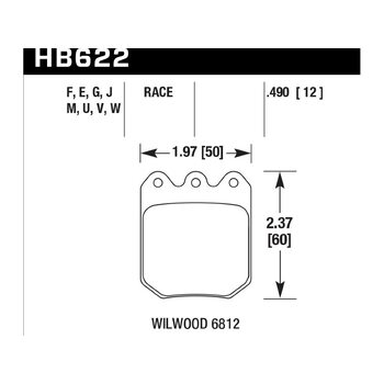 Колодки тормозные HB622F.490 HAWK HPS