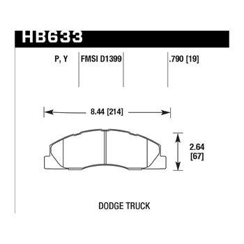 Колодки тормозные HB633Y.790 HAWK LTS; 20mm
