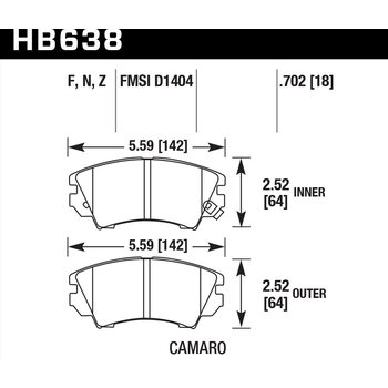 Колодки тормозные HB638F.702 HAWK HPS Opel Astra J 1.4 / 1.6 Turbo, Saab 9-5, 2.0T, 2010->