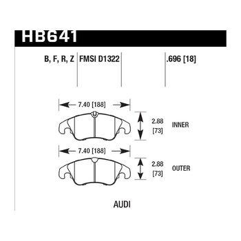Колодки тормозные HB641B.696 HAWK Street 5.0 Audi A5, A4 (1LA), Q5