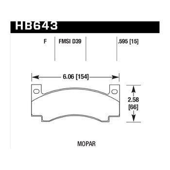 Колодки тормозные HB643F.595 HAWK HPS