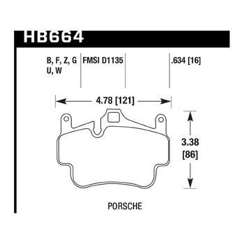 Колодки тормозные HB664B.634 HAWK HPS 5.0; 16mm