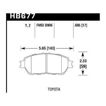 Колодки тормозные HB677Y.685 HAWK LTS