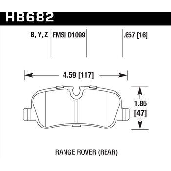 Колодки тормозные HB682Y.657 HAWK LTS задние Land Rover Discovery/Range Rover/Range Rover Sport