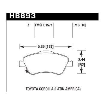Колодки тормозные HB693Z.716 HAWK Perf. Ceramic