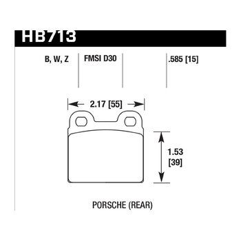 Колодки тормозные HB713B.585 HAWK HPS 5.0; 15mm