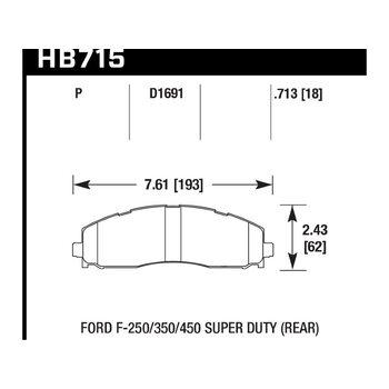 Колодки тормозные HB715P.713 HAWK SuperDuty; 18mm