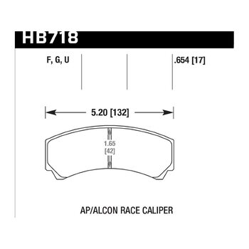 Колодки тормозные HB718F.654 HAWK HPS; 17mm