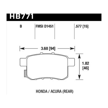Колодки тормозные HB771B.597 HAWK HPS 5.0; 15mm