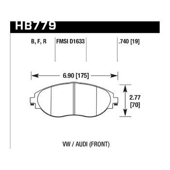 Колодки тормозные HB779R.740 HAWK Street Race; 19mm