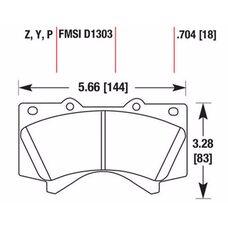 Тормозные колодки HAWK HB589Z704 для TOYOTA LANDRUISER 200, ТОЙОТА Ленд Крузер 200,  Lexus LX570, Лексус 570