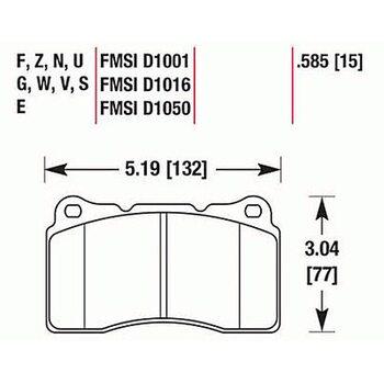 Колодки тормозные HB453N.585 HAWK HP+ передние MMC Lancer Evo V-X / SUBARU WRX Sti