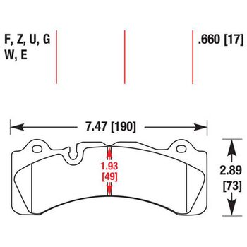Колодки тормозные HB582F.660 HAWK HPS  Brembo 6 поршней тип M