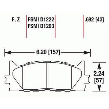 Колодки тормозные HB647F.692 HAWK HPS передние TOYOTA CAMRY 2007->