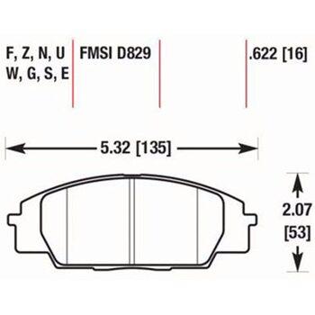 Тормозные колодки HAWK HB361Z622, Acura RSX, Honda Civic Type-R, S2000, FCP1444